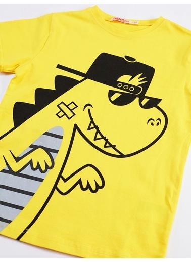 Denokids Dino Rap Çizgili Erkek Çocuk Takım Renkli